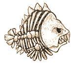 Piranha skeleton tattoo - photo#30
