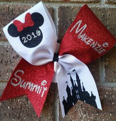 Disney Cheer bow. Cheer bow. Worlds or by CurlyNoodleCreations