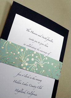 Everlasting love wedding shower invitation zen wedding black invitations with robins egg floral sash stopboris Gallery