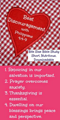 "This Bite Size Bible Study called ""Thanks, Sis, I Needed That"" talks about the way Scripture (and other Christians) can help us overcome discouragement."