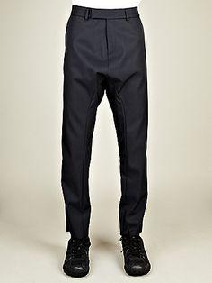Raf Simons Men's Low Crotch Pants in blue at oki-ni