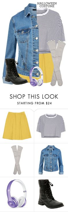 """""""deb; baby driver."""" by pinkcloud9 ❤ liked on Polyvore featuring Prada, T By Alexander Wang, Free People, Beats by Dr. Dre, Hot Topic, halloweencostume, halloweencostumes and babydriver"""