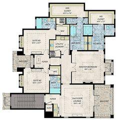 Coastal Contemporary Florida House Plan 71549 Level Two