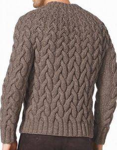 Мужской пуловер спицами 2018