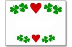 clovers and heart