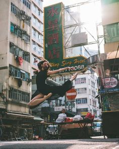 Hong Kong's Playground: Omar Z. Robles Captures Ballet Dancers in the Streets of Hong Kong #inspiration #photography