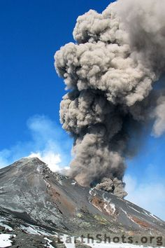 Ash Eruption of Mt. Etna by Thomas  My husband was working near Catania, Sicily…