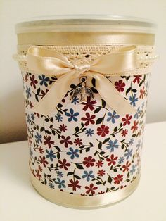 Tin Can Crafts, Metal Crafts, Recycled Crafts, Jar Crafts, Crafts To Sell, Handmade Crafts, Diy And Crafts, Mod Podge Crafts, Recycle Cans