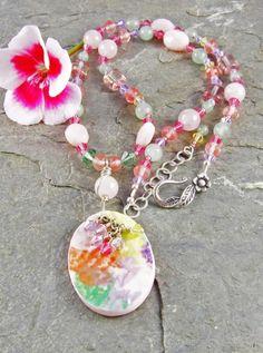 Linda Landig Jewelry, with Ceramic Pendant by Yoli Miramontes