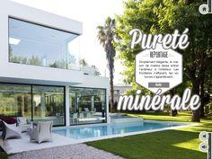 Reportage Pureté minérale  Simplement élégante, la maison de marbre laisse entrer l'extérieur à l'intérieur
