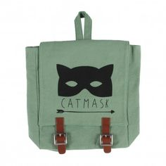 http://en.smallable.com  Emile et Ida school-bags-catmask-backpack-green