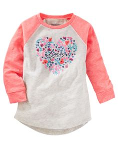 Baby Girl TLC Love Raglan Tunic from OshKosh B'gosh. Shop clothing & accessories from a trusted name in kids, toddlers, and baby clothes.