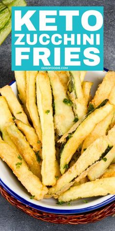 Low carb keto zucchini fries that make the perfect keto side dish or keto snack that are only net carbs per serving! These crispy easy low carb zucchini fries are THE BEST! Diet Crispy Low Carb Keto Zucchini Fries - Oh So Foodie Ketogenic Recipes, Low Carb Recipes, Diet Recipes, Healthy Recipes, Soup Recipes, Beginner Recipes, Steak Recipes, Vegan Keto Recipes, Cooking Recipes
