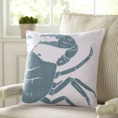 Crab Undersea Pillow Cover