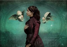 """Voices"" Digital Art by Christian Schloe posters, art prints, canvas prints, greeting cards or gallery prints. Find more Digital Art art prints and posters in the ARTFLAKES shop. Max Ernst, Lisa Evans, Magic Realism, Magritte, Pop Surrealism, Surreal Art, Portrait, Collage Art, Photo Art"