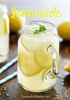 Homemade Lemonade. refreshing drink recipe for summer!