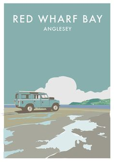 Land Rover Series 2 Birthday Greetings Card - 'Red Wharf Bay'