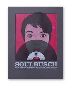 Screenprinted gigposter by Götzilla for Soulbusch