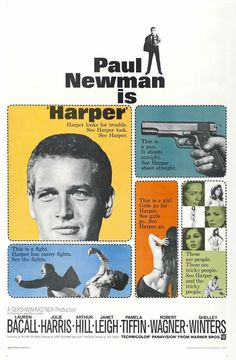 Harper (1966) - Directed by jack Smight - Written by William Goldman - With Paul Newman, Lauren Bacall