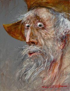 "Marcel Nino Pajot ""Don Quijote"" Figurative Sculpture, Cartoon Drawings, Art Block, Drawings, Painting, Art, Man Of La Mancha, Abstract Portrait, Bird Art"