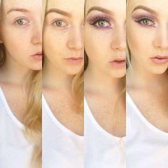 Creepy purple eye makeup tutorial