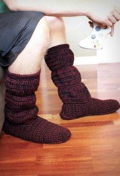 Men's Cozy Crochet Slipper Boots Pattern for sale or *Inspiration*