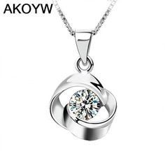 Silver Colour crystal pendant love at first sight rotation Ms. hypoallergenic fashion jewelry high quality factory wholesale #Affiliate