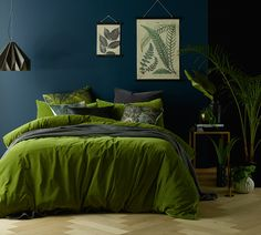 Mossy Road Cotton Velvet Quilt Cover Set by Vintage Designs. Get it now or find more Quilt Covers at Temple & Webster.