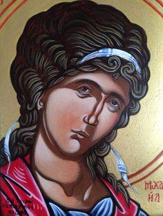 "© Babis & Flora  ""Αρχάγγελος Μιχαήλ"" ""Archangel Michael"" 16 x 21 cm"