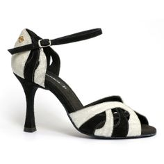 Black and white bombshell Latin Dance Shoes, Ballroom Dance Shoes, Dancing Shoes, Salsa Shoes, Tango Shoes, Salsa Dancing, Low Heels, Kitten Heels, Footwear