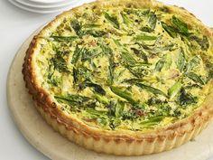 Spinach Ham and Scallion Tart  http://www.foodnetwork.com/recipes/ricotta-ham-and-scallion-tart-recipe/index.html