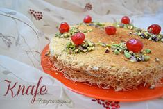 Knafeh is one of the popular desserts in the levant (Palestine, Jordan, Syria and Lebanon) and in Turkey.  Like many other middle eastern recipes, there is more than one way to pronounce and spell …