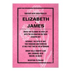 Rustic Vintage Pink And Black Wedding Invitations Yes I can say you are on right site we just collected best shopping store that haveThis Deals          	Rustic Vintage Pink And Black Wedding Invitations Here a great deal...