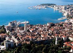 vue de #Split en #Croatie #Adriatique
