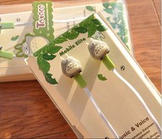 Want headphones with little Totoro on them so you can look stylish while rocking out to your iPod? - This is perfect for any My Neighbor Totoro Fans - While Supplies Last! Limit 10 Per Order Please al