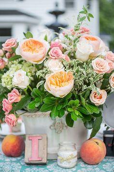 Rose & Pêche & Vert