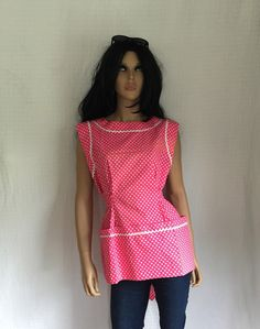Vintage 50s Pink Polka Dot Top  Sweet 1950s by GypsysClosetVintage