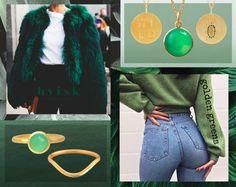 Golden greens #hvisk #jewellery #jewelry #fashion #silver #gold #green #nature #art #inspiration