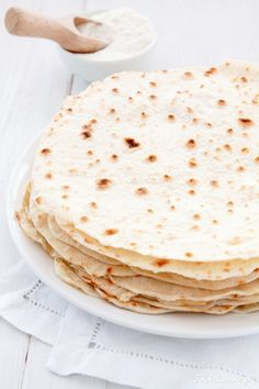 Easy, homemade Flour Tortillas / Wheat Tortillas.
