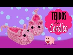 How to Crochet Piggy Baby Booties   Croby Patterns - YouTube