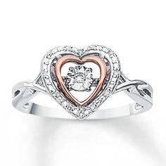 cc1f43456c1 Diamonds in Rhythm 1 20 ct tw Ring Sterling Silver 10K Gold