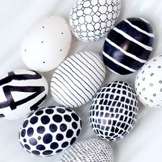 I may have to dye some eggs pink and decorate them in black. Hmmmm.