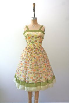 1950s dress / polka dot dress / Polka Party Dress by nocarnations