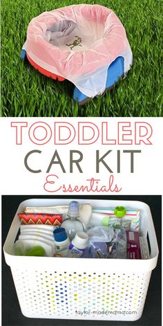 What to pack in an emergency car kit for a toddler + FREE PRINTABLE Checklist. Be prepared for any emergency or situation + potty training essentials Toddler Potty Training, Potty Training Tips, Training Meme, Training Quotes, Training Schedule, Toddler Car, Toddler Travel, Toddler Diaper Bag, Baby Travel