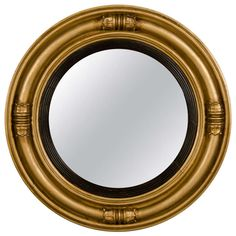 1stdibs | Regency Style Gilded Circular Frame with Original Mirror, England C.1850