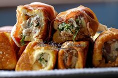 The Kitchen Whisperer Savory Ricotta Mushroom Prosciutto French Toast Roll Ups