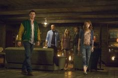 Still of Anna Hutchison, Fran Kranz, Chris Hemsworth, Kristen Connolly and Jesse Williams in The Cabin in the Woods