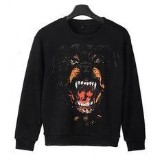 """Angry Dog Print T-shirt - Polyvore"""""""