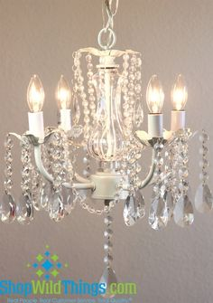 """Daphne""  Chandelier - Glimmering Draped Glass Crystals - 12"" X 12"" X 16"", 4 Lights"