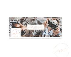 SALE! Facebook Timeline Photography Template, Blog Header Rose Gold Photographer Collage, Branding Kit, Social Media banner
